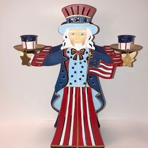 NWOB! Party lite Americana Uncle Sam Candle holder